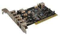 PCI Karte 4x USB2 1xIEEE1394